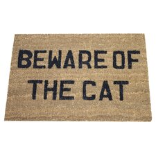 Beware of the Cat Doormat