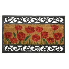 Wrought Iron Poppy Doormat