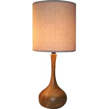 "Wood Texture 19"" Table Lamp"
