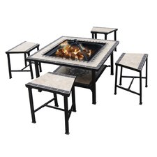 Serengeti Sunrise 7 Piece Fire Pit Seating Group