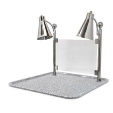 Flex Dual Stainless Steel Lamp Square Carving Station with Sneeze Guard