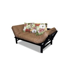 Hudson Solid Series Junior Twin Sofa Lounger with Chocolate Cushion