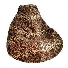 Leopard Print Bean Bag Lounger