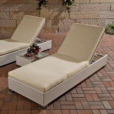 Sonnenliegen-Set mit Sitzauflagen