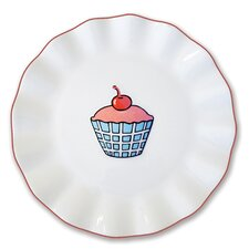 "Everyday Cupcake 7"" Plaid Plate (Set of 4)"