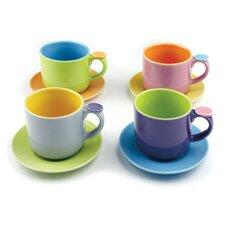 Hemisphere 8 Piece Demitasse Espresso Cups Set