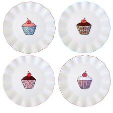 "Everday Cupcake 7"" Assorted Plates (Set of 4)"
