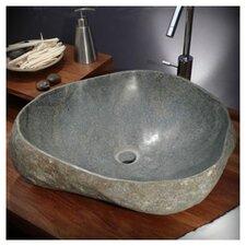 43 cm Aufsatzaschbecken Galet River Stone