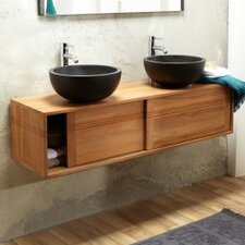 Basic 140cm Double Vanity Set