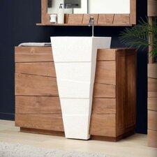 100 cm Einzelwaschbeckenunterschrank-Set Icone