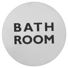 Bathroom Sign in Brushed