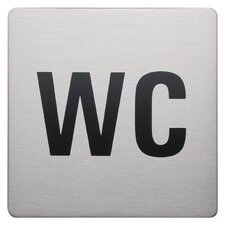 Square WC Signs in Brushed