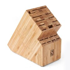 Cook N Home Bamboo 19 Slot Knife Storage Block