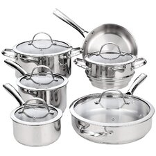 Cooks Standard 11 Piece Classic Stainless Steel Cookware Set