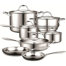 12 Piece Multi-Ply Clad Stainless-Steel Cookware Set