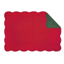 Reversible Quilt Scallop Placemat (Set of 6)