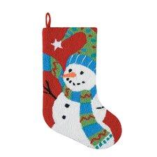 Festive Frosty Hooked Stocking