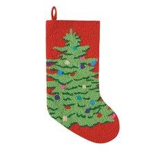 Ornamental Tree Hooked Stocking
