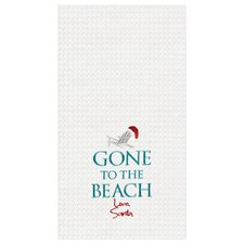 Gone To The Beach Santa Kitchen Towel (Set of 6)
