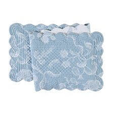 Eliza Lace Blue Quilted Reversible Runner