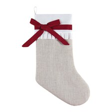 Linen Holiday Stocking