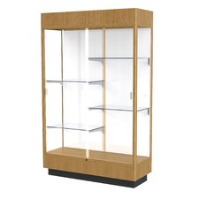Heritage Series Floor Display Case with Lighted Cornice