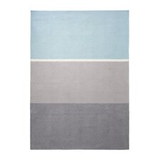 Handgetufteter Teppich Winter Coziness in Grau/Blau