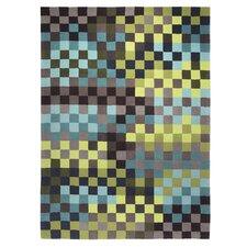 Handgefertigter Teppich Pixel in Bunt