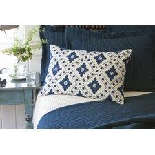 Linnea Embroidered Linen Lumbar Pillow