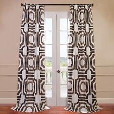 Mecca Printed Cotton Semi-Opaque Single Curtain Panel