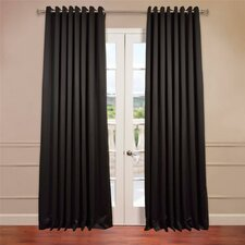 Grommet Doublewide Plush Blackout Single Curtain Panel