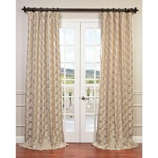 Meandering Vine Embroidered Semi-Opaque Curtain Panel