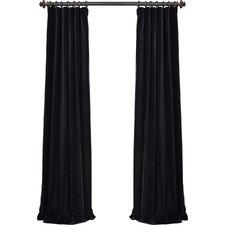 Mikayla Velvet Pole-Pocket Semi-Opaque Single Curtain Panel