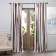 Charleston Striped Blackout Single Curtain Panel