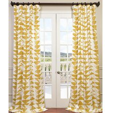 Triad Twill Semi-Opaque Single Curtain Panel