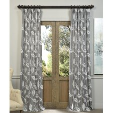 Willow Embroidered Single Curtain Panel