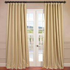 Doublewide Plush Blackout Single Curtain Panel