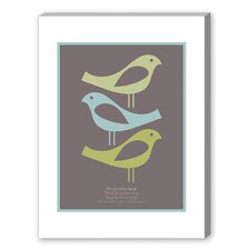 Visual Philosophy Three Little Birds Graphic Art on Canvas