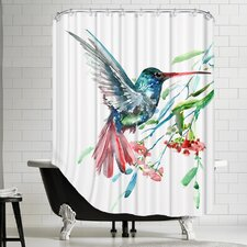 Humming Bird and Flowers Shower Curtain