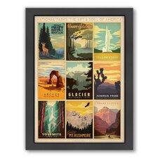 National Park Multi 1 by Anderson Design Group Framed Vintage Advertisement