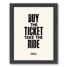 Motivated Buy The Ticket Framed Textual Art