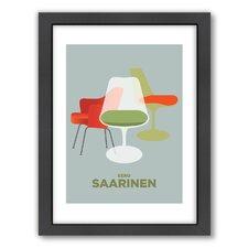 Visual Philosophy Saarinen Chairs Framed Graphic Art
