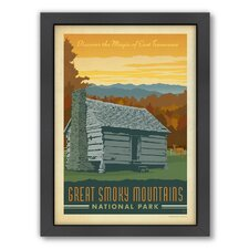 Great Smoky Mountain Framed Vintage Advertisement