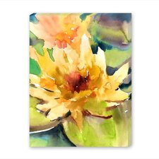 Lotus Painting Print on Wrapped Canvas