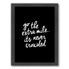 Motivated Go The Extra Mile Framed Textual Art