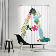 Letter Shower Curtain
