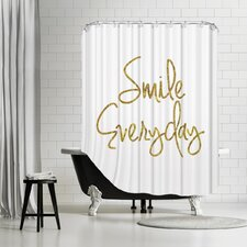 """""""Smile Everyday"""" Shower Curtain"""