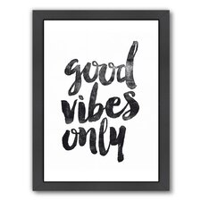 Good Vibes Only Framed Textual Art
