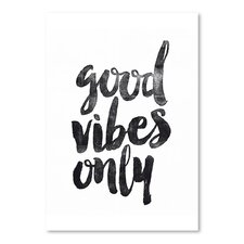 Good Vibes Only Poster Textual Art