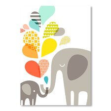 The Paper Nut Elephants Graphic Art on Canvas
